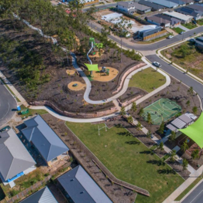 Brentwood estate landscape render