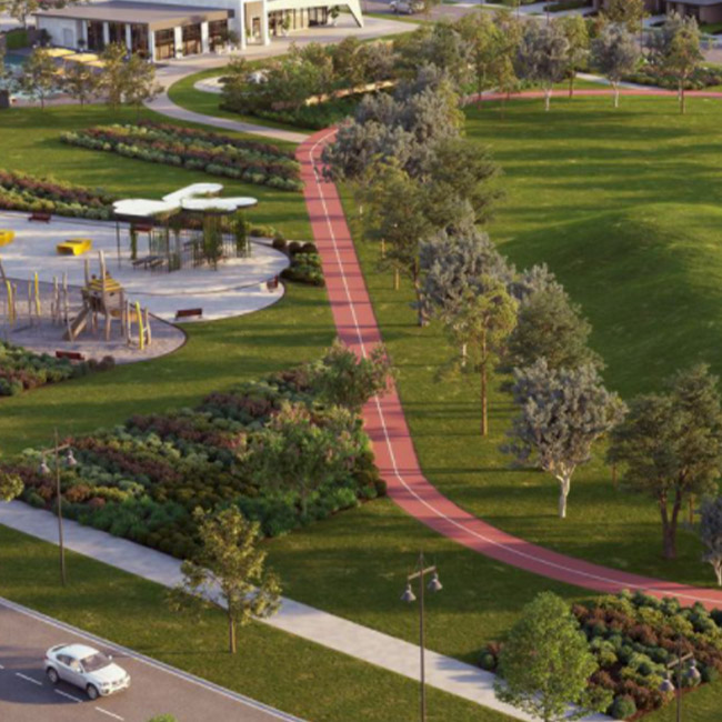 Bridgefield estate landscape render